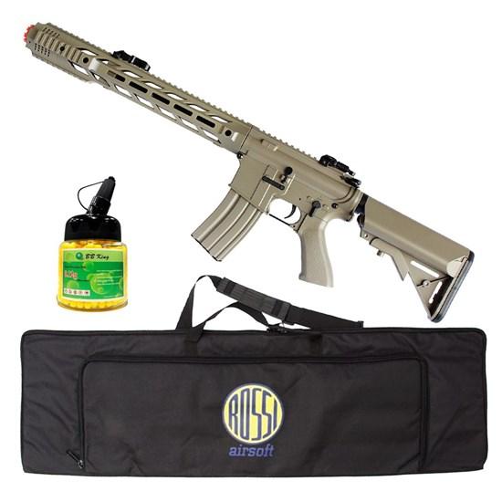 Rifle Airsoft M4A1 AEG CM518 com 1000 Munições BBs e Case Mala ActionX