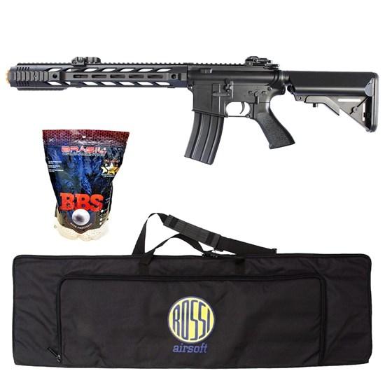 Rifle Airsoft M4A1 AEG CM518 com 4000 Munições BBs e Case Mala ActionX