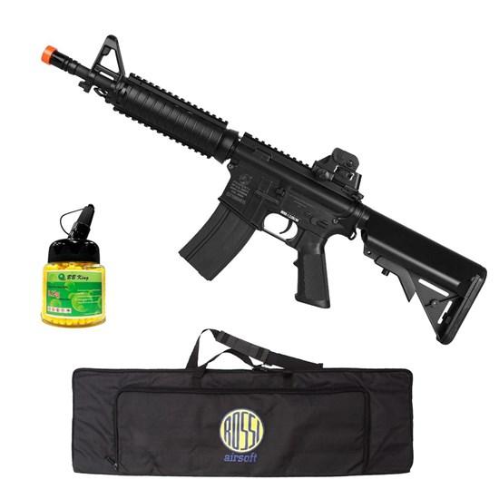Rifle Airsoft M4A1 Colt AEG com 1000 Munições BBs e Case Mala ActionX