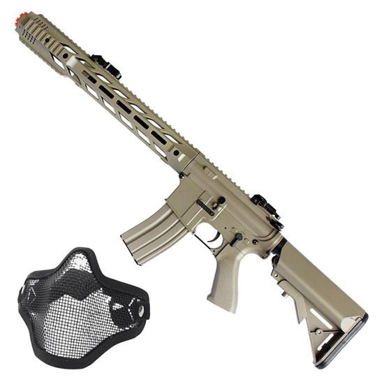 Rifle Airsoft M4A1 Elétrico Cyma AEG CM518 + Máscara Meia-face Nautika Airsoft Tático