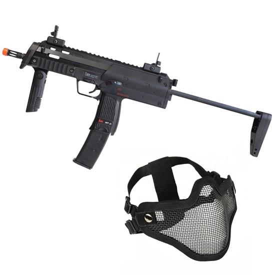 Rifle Airsoft MP7A1 SWAT Umarex Elétrica Full Metal + Máscara Meia-face Nautika