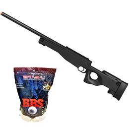 Rifle Airsoft Sniper L96 M59A Double Eagle com 4000 Munições BB King