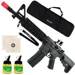 Rifle Airsoft Vigor M4 RIS Toy + 2000 BB's 0,12g + Capa + Bandoleira + 2 Alvos