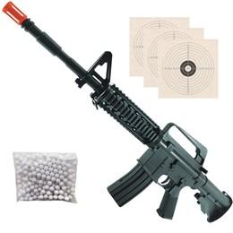 Rifle Airsoft Vigor VG M16 RIS Spring Polímero + 2000 BB's 0,12g + 3 Alvos