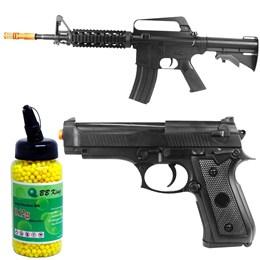 Rifle Airsoft Vigor VG M16RIS Spring + Pistola Airsoft Vigor VG P92 + 2000 BBs 0,12g