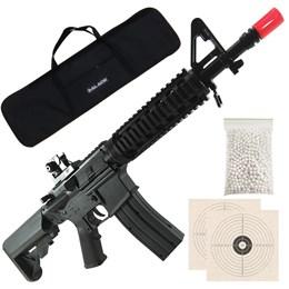 Rifle Airsoft Vigor VG M4 RIS Toy Spring + 1000 BB's 0,12g + 2 Alvos + Capa