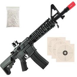 Rifle Airsoft Vigor VG M4 RIS Toy Spring Polímero + 2000 BB's 0,12g + 3 Alvos