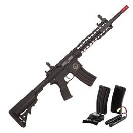 "Rifle Elétrico Airsoft Rossi Ar15 Neptune Keymod 10"" Automático 380 FPS"