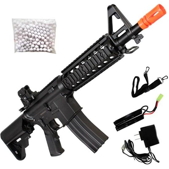 Rifle Fuzil Airsoft AEG CYMA CM506 M4A1 RIS 360 FPS em ABS