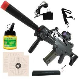 Rifle Fuzil Airsoft Cyma G36 CM021 AEG + 1000 BBs + 2 Alvos de Papel 14x14cm