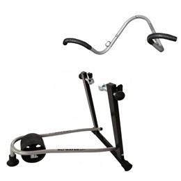 Rolo de Treinamento Dobrável + Suporte Vertical de Parede 2 Bikes AL-70 Altmayer