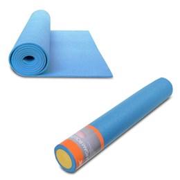 Rolo de Yoga e Pilates 90x15cm LIVEUP LS3764A + Colchonete de Yoga em EVA LiveUp LS3231B