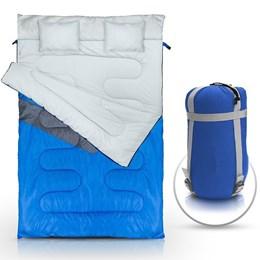 Saco de Dormir Casal Tipo Envelope Nautika Kuple Azul
