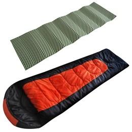 Saco de Dormir Cocoon até -5ºC EchoLife + Isolante Térmico Dobrável 1,80m Azteq