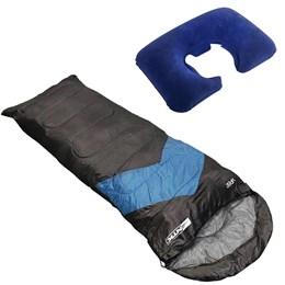Saco de Dormir Envelope e Sarcófago + Travesseiro de Pescoço Nautika Inflável