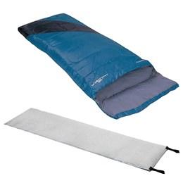 Saco de Dormir Envelope Liberty Nautika + Isolante Térmico Guepardo