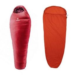 Saco de Dormir Feminino Orbit Deuter + Liner para Saco de Dormir Sea to Summit