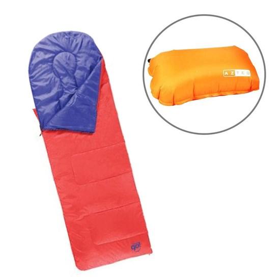 Saco de Dormir Fiesta Coleman com Travesseiro Inflável Looper AZTEQ
