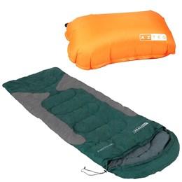 Saco de Dormir Freedom Nautika com Travesseiro Inflável Looper AZTEQ