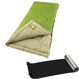 Saco de Dormir Green Valley Coleman + Isolante Térmico Aluminizado - Nautika