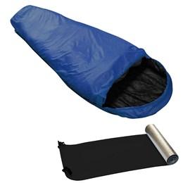 Saco de Dormir Micron X-Lite Azul + Isolante Térmico E.V.A.- Nautika