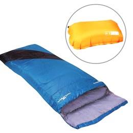 Saco de Dormir Nautika Liberty Azul com Travesseiro Inflável Looper AZTEQ