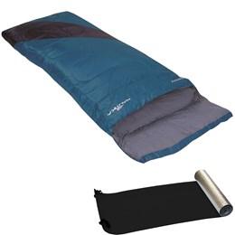 Saco de Dormir Nautika Liberty Interior de Algodão Azul + Isolante Térmico EVA