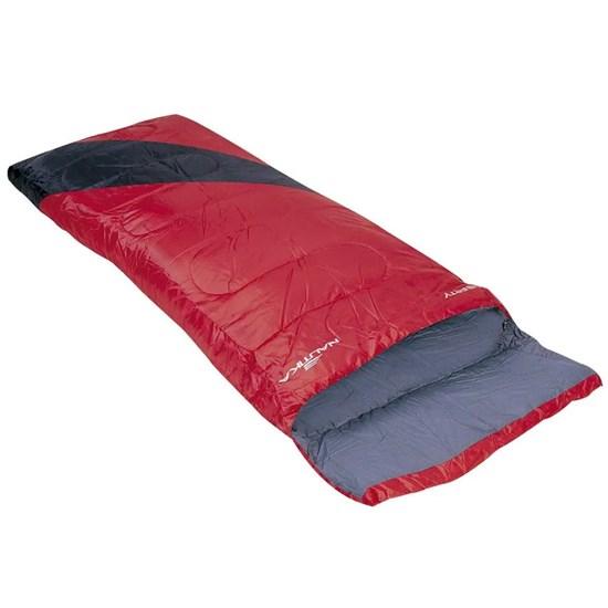 Saco de Dormir Nautika Liberty Tipo Envelope Interior Algodão Preto com Vermelho