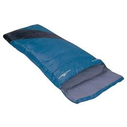 Saco de Dormir Nautika Liberty Tipo Envelope Interior em Algodão Azul com Preto