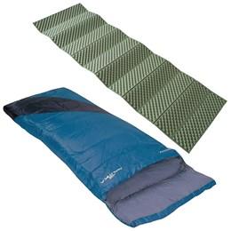Saco de Dormir Nautika Liberty Tipo Envelope + Isolante Térmico Thor Verde Azteq