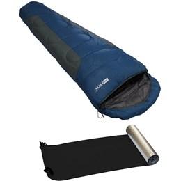 Saco de Dormir Sarcófago Mummy + Isolante Térmico Aluminizado - Nautika