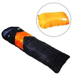 Saco de Dormir Térmico até 5°C Nautika Viper Laranja com Travesseiro Inflável Looper