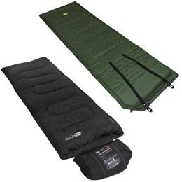 Saco de Dormir Tipo Envelope até 5°C Vezper NTK + Colchonete Autoinflável Smart