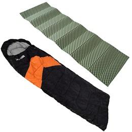 Saco de Dormir Tipo Envelope e Sarcófago Nautika + Isolante Térmico 1,80m Azteq