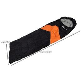 Saco de Dormir Tipo Envelope e Sarcófago Viper Laranja - Nautika 230100