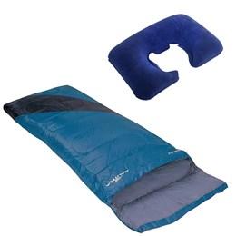 Saco de Dormir Tipo Envelope Nautika + Travesseiro de Pescoço Inflável Nautika
