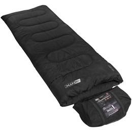 Saco de Dormir Tipo Envelope Vezper até 5°C Preto + Isolante Térmico Thor AZTEQ