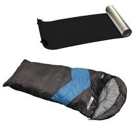 Saco de Dormir Viper Azul Escuro e Isolante Térmico Aluminizado Nautika