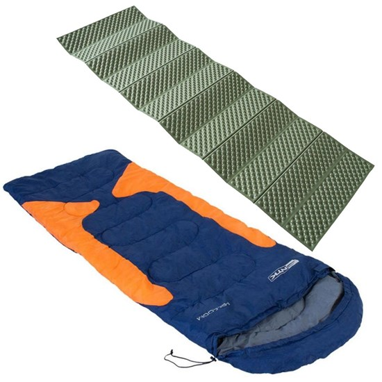 Saco Dormir Freedom -1,5ºC à -3,5ºC Azul e Laranja + Isolante Térmico Thor AZTEQ