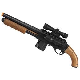 Shotgun Airsoft CyberGun Mossberg M3000 355 FPS + Máscara Meia-face Nautika