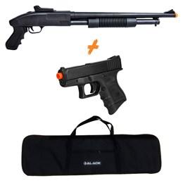 Shotgun Airsoft CYMA ZM61 280 fps + Pistola P698 + Capa 1 Metro