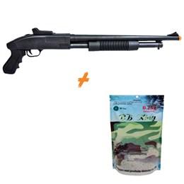 Shotgun Airsoft CYMA ZM61 280 FPS Spring + 3000 BB's 0,25g