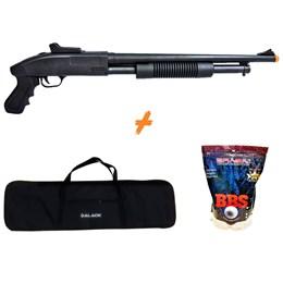 Shotgun Airsoft CYMA ZM61 280 fps Spring + Capa 1 Metro + 4000 BB's 0,20g