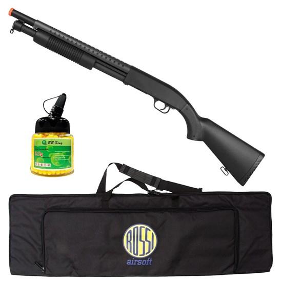 Shotgun Airsoft M58A 400 FPS com 1000 Munições BBs e Case Mala ActionX