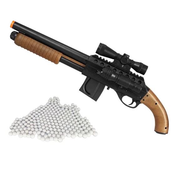 Shotgun Airsoft Mossberg M3000 CyberGun 355 FPS + Munições BBs 0,12g 2000 Un
