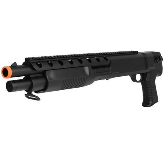 Shotgun M309 Airsoft Spring 400 FPS 6mm com Suporte para Bandoleiras