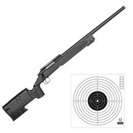 Sniper Rifle Airsoft Double Eagle M62F 420 FPS + Kit 10 Alvos de Papel Bravo Militar