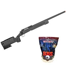 Sniper Rifle Airsoft Double Eagle M62F 420 FPS + Munições BBs 0,20g BB King 4000 Un