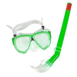 Snorkel com Máscara Premium Verde - Belfix 39700