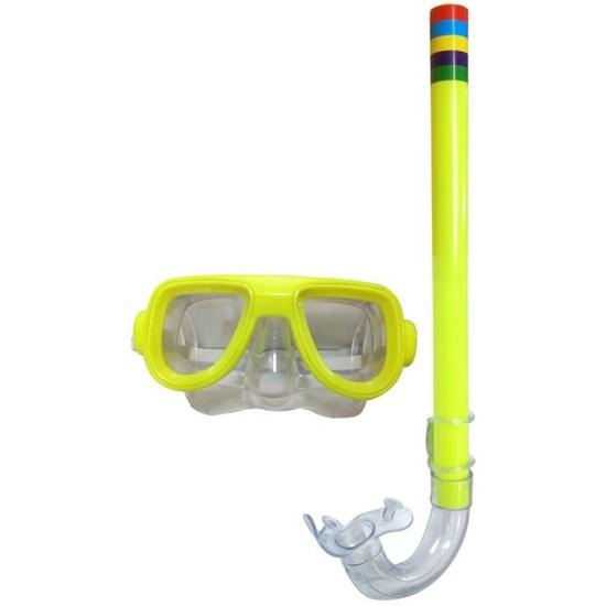 Snorkel com Máscara Verde Limão - Belfix 39800